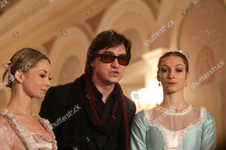 Sergei Filin (c) Artistic Director of the Bolshoi Ballet and Principal Dancers Evgenia Obraztsova (l) and Olga Smirnova (r) Attend a Press Conference Before the General Rehearsal of Daniel Auber's Ballet 'Marco Spada' at the Bolshoi Theater in Moscow Russia 07 November 2013 the Ballet in Three Parts Staged by French Director and Choreographer Pierre Lacotte Will Be Premiered on 08 November Russian Federation Moscow