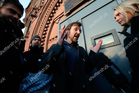 Greenpeace Activist Philip Ball (c) From Britain Leaves the Prison Kresty in St Petersburg Russia 25 November 2013 Ball who Has Been Held in Russia Since the End of September After a Greenpeace Protest at an Oil Rig in the Pechora Sea Has Been Released on Bail According to Greenpeace Russian Federation St. Petersburg