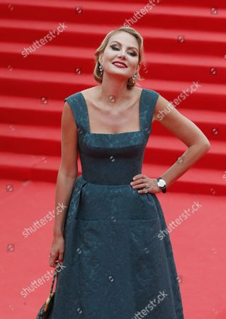 Russian Actress Renata Litvinova Poses During the Opening Ceremony of the 37th International Film Festival at Russia Theatre in Moscow Russia 19 June 2015 Russian Federation Moscow