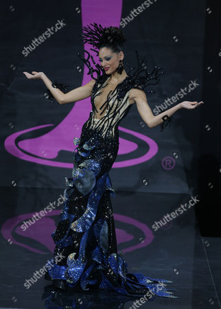 Monic Perez Miss Puerto Rico 2013 Competes in Her National Costume During the 2013 Miss Universe National Costume Show at the Cultural and Trading Center Vegas in Moscow Russia 03 November 2013 the 2013 Miss Universe Pageant Will Take Place at the Crocus City Hall in Moscow on 09 November Russian Federation Moscow