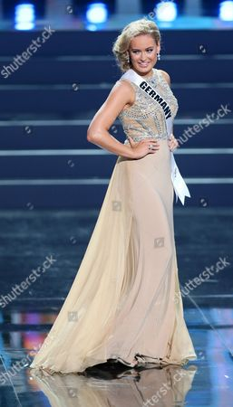 Anne Julia Hagen Miss Germany 2013 Performs Onstage During the Miss Universe 2013 Preliminary Competition in Moscow Russia 05 November 2013 the Final of the 2013 Miss Universe Pageant Will Take Place at the Crocus City Hall in Moscow on 09 November Russian Federation Moscow