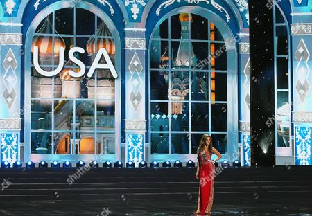 Miss Usa 2013 Erin Brady Performs at the Miss Universe 2013 Semi Final Rehearsal in Moscow Russia 05 November 2013 the Final of the 2013 Miss Universe Pageant Will Take Place at the Crocus City Hall in Moscow on 09 November Russian Federation Moscow