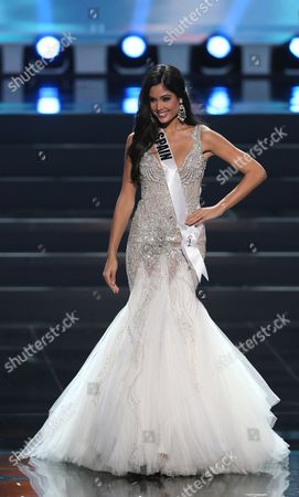 Patricia Yurena Rodriguez Miss Spain 2013 Performs Onstage During the Miss Universe 2013 Preliminary Competition in Moscow Russia 05 November 2013 the Final of the 2013 Miss Universe Pageant Will Take Place at the Crocus City Hall in Moscow on 09 November Russian Federation Moscow
