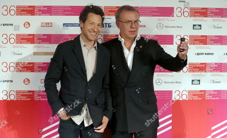 Us Director Gabriel Polsky (l) and Russian Hockey Legend Viacheslav Fetisov (r) Pose After a Press Conference For the Movie 'Red Army' at the 36th Moscow International Film Festival in Moscow Russia 18 June 2014 the Festival Opens with the Film 'Red Army' a Documentary About the Russian Hockey Team Cska in the 1980s the Event Will Run From 19 to 28 June Russian Federation Moscow