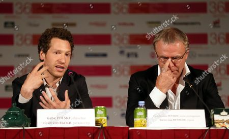 Us Director Gabriel Polsky (l) and Russian Hockey Legend Viacheslav Fetisov (r) Attend a Press Conference For the Movie 'Red Army' at the 36th Moscow International Film Festival in Moscow Russia 18 June 2014 the Festival Opens with the Film 'Red Army' a Documentary About the Russian Hockey Team Cska in the 1980s the Event Will Run From 19 to 28 June Russian Federation Moscow