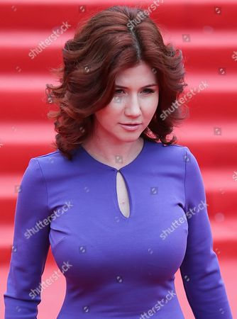 Former Russian Spy Anna Chapman Arrives For the Closing Ceremony of the 36th Moscow International Film Festival in Moscow Russia 28 June 2014 Russian Federation Moscow