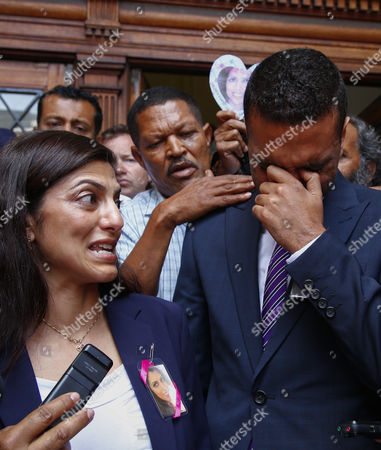 Ami Denborg (l) Sister of Anni Dewani Weeps As She Makes a Statement Expressing the Familys Shock at the South African Justice System As She Stands with Anish Hindocha (r) Brother of Anni Dewani at the Western Cape High Court Cape Town South Africa 08 December 2014 Judge Jeanette Traverso Dismissed the Case Against British Busnessman Shrien Dewani who was Accused of Masterminding the Murder of His Wife Anni During a Staged Car-jacking on Their 2010 Honeymoon Judge Traverso Said the Evidence Presented by the Prosecution Fell 'Far Below the Threshold' of what a Reasonable Court Could Convict on South Africa Cape Town