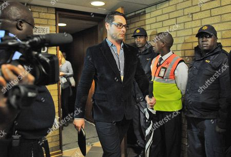 South African Paralympic Athlete Oscar Pistorius' Brother Carl Pistorius (c) Arrives at the High Court in Pretoria South Africa 04 March 2014 South African Paralympics Sprint Star Oscar Pistorius is Standing Trial For the Premeditated Murder of His Model Girlfriend Reeva Steenkamp in February 2013 South Africa Pretoria