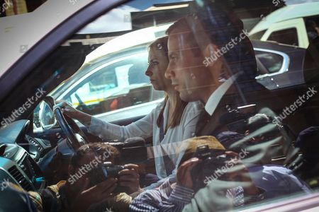 Stock Image of Aimee Pistorius Drives Her Brother Oscar Pistorius Away From the High Court in Pretoria on Friday October 17 2014 After the Fifth Day of Sentecing where the South African Paralympian is Facing Culpable Homicide Charges For the Death of His Model Girlfriend Reeva Steenkamp who He Shot Through a Bathroom Door at His Pretoria Home in February 2013 Sentencing Due to Continue and Be Finalized on Tuesday 21 October 2014 Picture: Kevin Sutherland/epa South Africa Pretoria