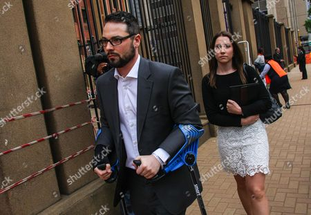 Siblings Carl and Aimee Pistorius Arrive at the High Court in Pretoria As Their Brother Oscar Pistorius Appears on the Third Day of the Sentencing Procedure October 15 2014 the South African Paralympian Has Been Found Guilty of Culpable Homicide For the Death of His Model Girlfriend Reeva Steenkamp After Shooting Her Through a Bathroom Door at His Pretoria Residence in February 2013 South Africa Pretoria