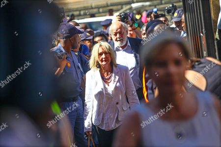 June Steenkamp (c-l) and Barry Steenkamp (c-r) Parents of Reeva Steenkamp Arrive at the High Court in Pretoria South Africa 21 October 2014 For the Sentencing Verdict of Oscar Pistorius Pistorius was Last Month Found Guilty of the Culpable Homicide of His Model Girlfriend Reeva Steenkamp on 14 February 2013 Judge Thokozile Masipa Delivered Sentence Following Aggravating and Mitigating Arguments From the Defence and Prosecution South Africa Pretoria