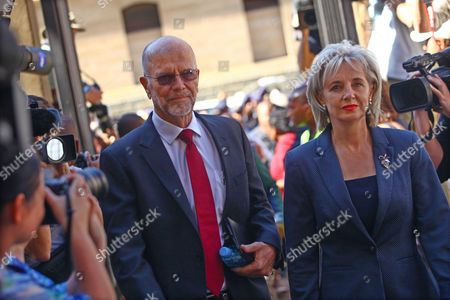 Arnold Pistorius (l) and Lois Pistorius (r) Arrive at the High Court in Pretoria South Africa 21 October 2014 For the Sentencing Verdict of Oscar Pistorius Pistorius was Last Month Found Guilty of the Culpable Homicide of His Model Girlfriend Reeva Steenkamp on 14 February 2013 Judge Thokozile Masipa Delivered Sentence Following Aggravating and Mitigating Arguments From the Defence and Prosecution South Africa Pretoria