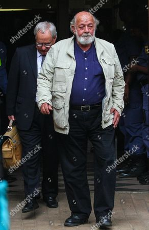 Barry Steenkamp Father of Reeva Steenkamp Leaves on Day Three of Sentencing Procedures at the High Court in Pretoria South Africa 15 October 2014 Judge Thokozile Masipa Found South African Paralympic Athlete Oscar Pistorius not Guilty of the Murder of Reeva Steenkamp in February 2013 But Guilty of Culpable Homicide South Africa Pretoria