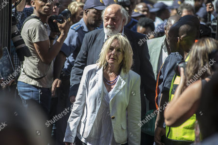 June Steenkamp (c-r) and Barry Steenkamp (c-l) the Parents of Reeva Steenkamp Arriving at the High Court For the Final Day of the Sentencing of South African Paralympic Athlete Oscar Pistorius During His Ongoing Murder Trial Pretoria South Africa 21 October 2014 Pistorius was Convicted of Culpable Homicide For His Part in the Shooting of His Model Girlfriend Reeva Steenkamp in February 2013 South Africa Pretoria