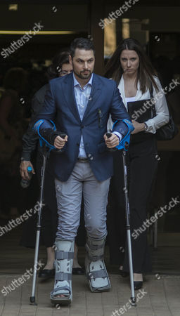 Carl and Aimee Pistorius the Brother and Sister of South African Paralympic Athlete Oscar Pistorius They Leave the High Court After the 5th Day of Sentencing in Their Brothers Murder Trail Pretoria South Africa 17 October 2014 Pistorius Stands Trial From 03 March For the Premeditated Murder of His Model Girlfriend Reeva Steenkamp in February 2013 the Judge Will Deliver Her Sentence Decision on Tuesday 21 October 2014 South Africa Pretoria