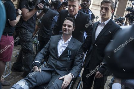 Carl Pistorius the Brother of South African Paralympic Athlete Oscar Pistorius Arrives at High Court For the Verdict in His Brothers Murder Trial Pretoria South Africa 11 September 2014 Pistorius Stands Trial From 03 March For the Premeditated Murder of His Model Girlfriend Reeva Steenkamp in February 2013 South Africa Pretoria