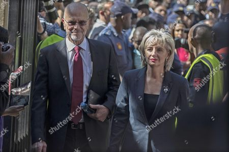 Arnold Pistorius (l) and Lois Pistorius (r) the Uncle and Aunt of South African Paralympic Athlete Oscar Pistorius Are Seen Arriving at the High Court For the Final Day of the Sentencing of the Athlete During His Ongoing Murder Trial Pretoria South Africa 21 October 2014 Pistorius was Convicted of Culpable Homicide For His Part in the Shooting of His Model Girlfriend Reeva Steenkamp in February 2013 South Africa Pretoria