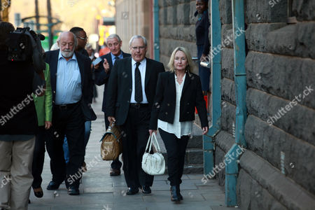 Reeva Steenkamp's Mother and Father June Steenkamp (r) and Barry Steenkamp (2-l) Arrive For the Verdict in Oscar Pistorius Murder Trial in Pretoria South Africa 11 September 2014 Pistorius Awaits His Verdict After Standing Trial From 03 March 2014 For the Premeditated Murder of His Model Girlfriend Reeva Steenkamp in February 2013 South Africa Pretoria