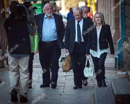 Reeva Steenkamp's Mother and Father June (r) and Barry Steenkamp (2-l) Arrive For the Verdict in Oscar Pistorius Murder Trial in Pretoria South Africa 11 September 2014 Pistorius Awaits His Verdict After Standing Trial From 03 March 2014 For the Premeditated Murder of His Model Girlfriend Reeva Steenkamp in February 2013 South Africa Pretoria