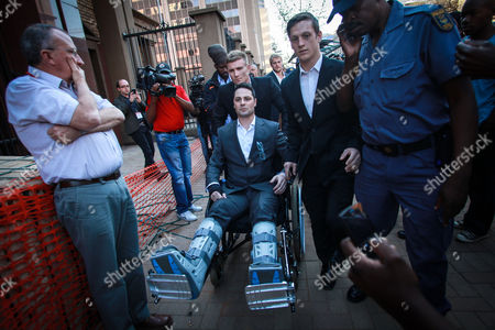 Carl Pistorius Brother of South African Paralympic Athlete Oscar Pistorius Arrives to Hear the Verdict of His Brother's Murder Trial in Pretoria South Africa 11 September 2014 Pistorius Awaits His Verdict After Standing Trial From 03 March 2014 For the Premeditated Murder of His Model Girlfriend Reeva Steenkamp in February 2013 Carl Pistorius Appeared in a Wheel Chair Due to and Earlier Car Accident South Africa Pretoria
