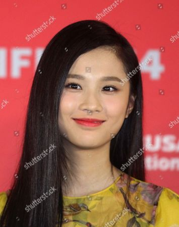 Chinese Actress Zhang Huiwen Smiles at the Press Conference For 'Coming Home' During the 19th Busan International Film Festival (biff) at the Haeundae Cinema Center Wolseok Art Hall in Busan South Korea 04 October 2014 the Film Festival One of the Most Significant in Asia Showcases 314 Films From 79 Countries From 02 to 11 October Korea, Rebublic of Busan