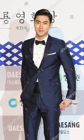 South Korean Dance Group 'Super Junior' Member Singer and Actor Choi Si-won Arrives For the 35th Blue Dragon Awards at the Sejong Culture Center in Seoul South Korea 17 December 2014 the Blue Dragon (cheongryong) Awards Are One of the Country's Two Major Awards Korea, Rebublic of Seoul