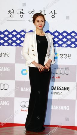 South Korean Actress Yum Jung-ah Arrives For the 35th Blue Dragon Awards at the Sejong Culture Center in Seoul South Korea 17 December 2014 the Blue Dragon (cheongryong) Awards Are One of the Country's Two Major Awards Korea, Rebublic of Seoul