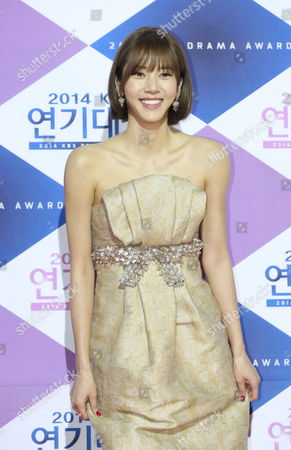 South Korean Singer and Actress Son Dam-bi Arrives For the 2014 Annual Kbs Drama Awards at the Youido Kbs Hall in Seoul South Korea 31 December 2014 the Korean Broadcasting System (kbs) Drama Awards Ceremony Gives a Prize to Actors and Actresses who Have Starred in Dramas Aired on Kbs Networks These Awards Started in 1987 and Have Been Presented Ever Since Korea, Rebublic of Seoul