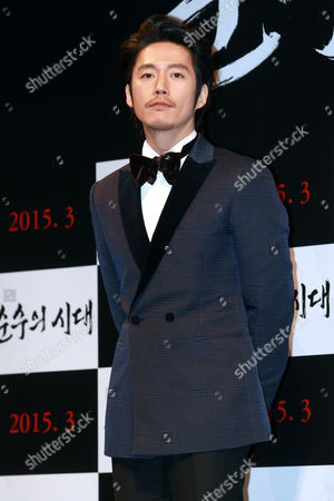 South Korean Actor Jang Hyuk Poses For Photographs During the Presentation of 'Age of Innocence' in Seoul South Korea 03 February 2015 the Movie Will Open in South Korean Theaters in March 2015 Korea, Rebublic of Seoul