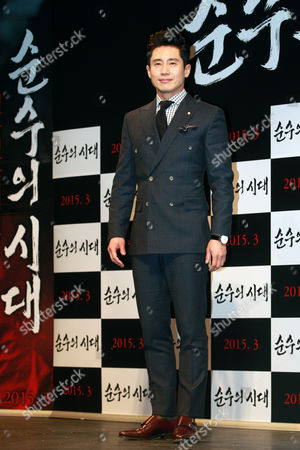 South Korean Actor Shin Ha-kyun Poses For Photographs During the Presentation of 'Age of Innocence' in Seoul South Korea 03 February 2015 the Movie Will Open in South Korean Theaters in March 2015 Korea, Rebublic of Seoul
