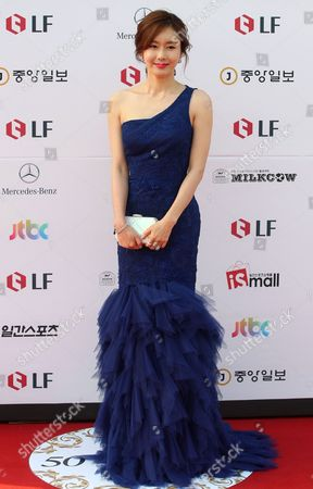 South Korean Actress Kim Ji Soo Arrives For the 50th Annual Baeksang Art Awards at the Kyunghee University in Seoul South Korea 27 May 2014 Korea, Rebublic of Seoul