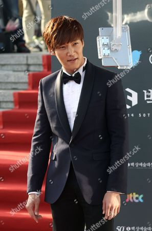 Stock Photo of South Korean Actor Choi Jin-hyuk Arrives For the 50th Annual Baeksang Art Awards at the Kyunghee University in Seoul South Korea 27 May 2014 Korea, Rebublic of Seoul
