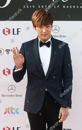 Stock Image of South Korean Actor Choi Jin-hyuk Arrives For the 50th Annual Baeksang Art Awards at the Kyunghee University in Seoul South Korea 27 May 2014 Korea, Rebublic of Seoul
