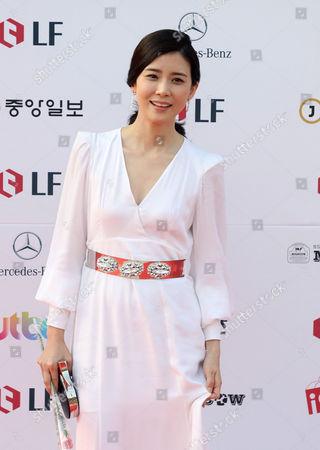 South Korean Actress Lee Bo-young Arrives For the 50th Annual Baeksang Art Awards at the Kyunghee University in Seoul South Korea 27 May 2014 Korea, Rebublic of Seoul
