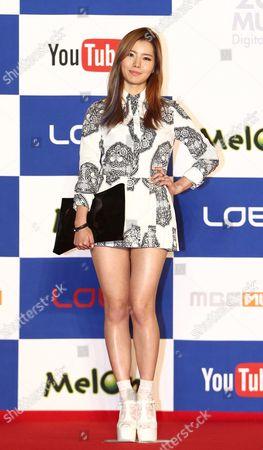 Stock Photo of South Korean Actress Kim Ye-rim Arrives For the Melon Music Awards 2013 at the Olympic Park Gymnastics Stadium Outdoor Stage in Seoul South Korea 14 November 2013 Korea, Rebublic of Seoul