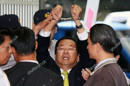 A Photo Made Available on 05 January 2015 Shows Ex-president Chen Shui-bian Shouting 'Political Persecution!' Afer Being Questioned at Supreme Prosecutor's Office in Taipei Taiwan 11 November 2008 Over Graft Allegations on 05 January 2015 the Justice Ministry Granted One-month Medical Parole to Chen Due to His Deteriorating Health Chen President From 2000 Until 2008 Has Served More Than Six Years of His 20-year Jail Term Chen an Advocate of Taiwan Independence was Charged with Corruption and Money Laundering Which He Denied Calling It Political Persecution by President Ma Ying-jeou's China-friendly Chinese Naitonalist Party (kuomintang Or Kmt) Taiwan Taoyuan City