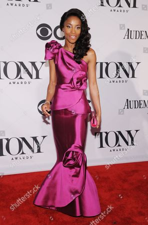 Us Actress Valisia Lekae Arrives For the 2013 Tony Awards at Radio City Music Hall in New York New York Usa 09 June 2013 the Annual Awards Honor Excellence in Broadway Theatre United States New York