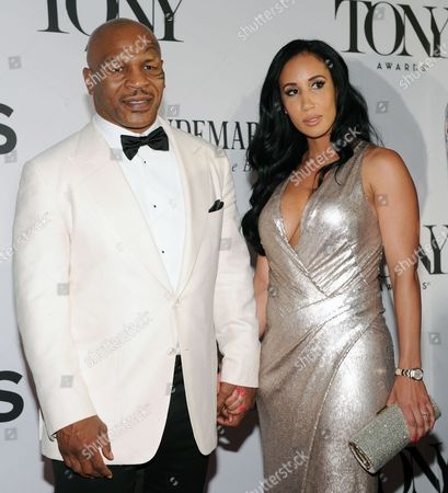 Former Us Boxer Mike Tyson and Lakiha Spicer Arrive For the 2013 Tony Awards at Radio City Music Hall in New York New York Usa 09 June 2013 the Annual Awards Honor Excellence in Broadway Theatre United States New York