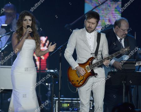 Mexican Pablo Hurtado (r) of Camila and Paula Fernandes Performs During the 2015 Latin Recording Academy Person of the Year Gala at Mandalay Bay Convention Center in Las Vegas Nevada Usa 18 November 2015 the Gala is Celebrating Brazilian Artist Roberto Carlos For His Artistic Social Contributions to the Latin Music and Culture United States Las Vegas