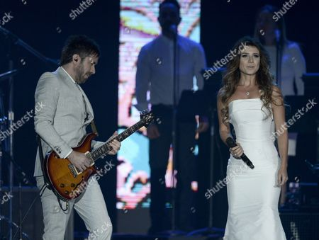 Mexican Pablo Hurtado (l) of Camila and Paula Fernandes Performs During the 2015 Latin Recording Academy Person of the Year Gala at Mandalay Bay Convention Center in Las Vegas Nevada Usa 18 November 2015 the Gala is Celebrating Brazilian Artist Roberto Carlos For His Artistic Social Contributions to the Latin Music and Culture United States Las Vegas