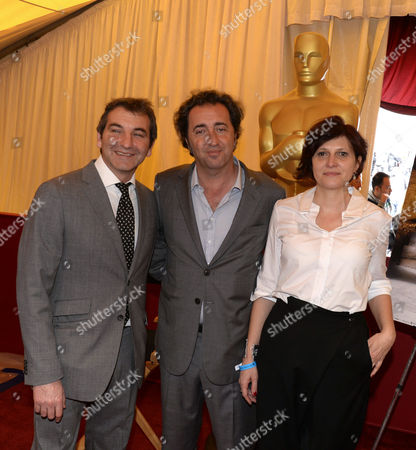 Italian Director Paola Sorrentino (c) and Producers Nicola Giuliano (l) and Francesca Cima (r) Whose Movie 'The Great Beauty' is Nominated Pose at a Photocall of the Foreign Language Film Nominees of the 86th Annual Academy Awards in Hollywood Los Angeles California Usa 28 February 2014 the Oscars Which Honors the Best in Filmmaking Will Take Place 02 March United States Hollywood