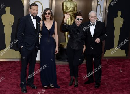 Greek Cinematographer Phedon Papamichael (l) and Wife Eka Papamichael (2-l) Us Actor Stacy Keach (r) and Wife Malgosia Keach (2-r) Arrive For the 86th Annual Academy Awards Ceremony at the Dolby Theatre in Hollywood California Usa 02 March 2014 the Oscars Are Presented For Outstanding Individual Or Collective Efforts in Up to 24 Categories in Filmmaking United States Hollywood