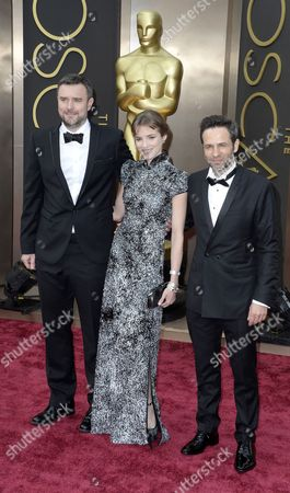(l-r) Spanish Actors Gustavo Salmeron Alejandra Lorenta and Director Esteban Crespo Arrive For the 86th Annual Academy Awards Ceremony at the Dolby Theatre in Hollywood California Usa 02 March 2014 the Oscars Are Presented For Outstanding Individual Or Collective Efforts in Up to 24 Categories in Filmmaking United States Hollywood