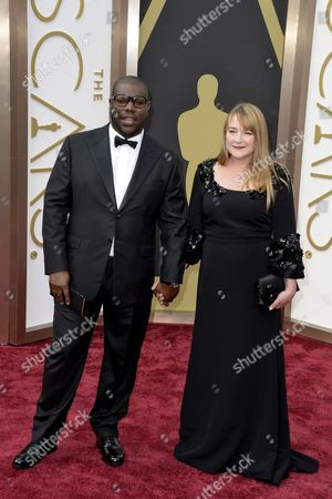 British Director Steve Mcqueen (l) and His Wife Bianca Stigter (r) Arrive For the 86th Annual Academy Awards Ceremony at the Dolby Theatre in Hollywood California Usa 02 March 2014 the Oscars Are Presented For Outstanding Individual Or Collective Efforts in Up to 24 Categories in Filmmaking United States Hollywood
