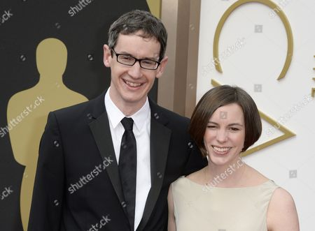 British Composer Steven Price (l) and Guest Arrive For the 86th Annual Academy Awards Ceremony at the Dolby Theatre in Hollywood California Usa 02 March 2014 the Oscars Are Presented For Outstanding Individual Or Collective Efforts in Up to 24 Categories in Filmmaking United States Los Angeles