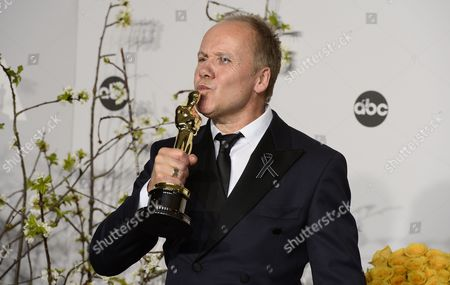 British Sound Editor Glenn Freemantle Holds His Trophy For Best Achievement in Sound Editing For 'Gravity' in the Press Room During the 86th Annual Academy Awards Ceremony at the Dolby Theatre in Hollywood California Usa 02 March 2014 the Oscars Are Presented For Outstanding Individual Or Collective Efforts in Up to 24 Categories in Filmmaking United States Hollywood
