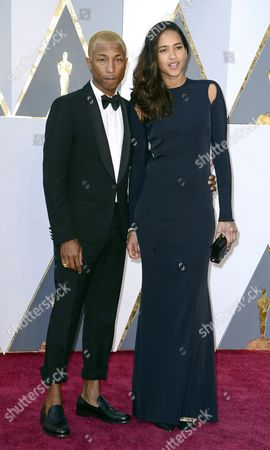 Pharrell Williams (l) and Helen Lasichanh Arrive For the 88th Annual Academy Awards Ceremony at the Dolby Theatre in Hollywood California Usa 28 February 2016 the Oscars Are Presented For Outstanding Individual Or Collective Efforts in 24 Categories in Filmmaking United States Hollywood