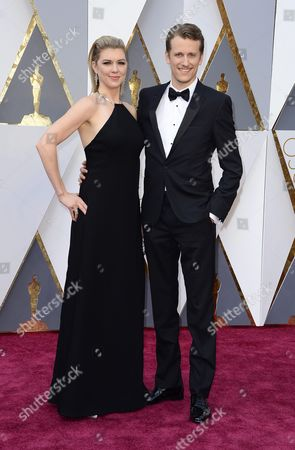 Stock Photo of Courtney Marsh (l) and Jerry Franck (r) Arrive For the 88th Annual Academy Awards Ceremony at the Dolby Theatre in Hollywood California Usa 28 February 2016 United States Hollywood