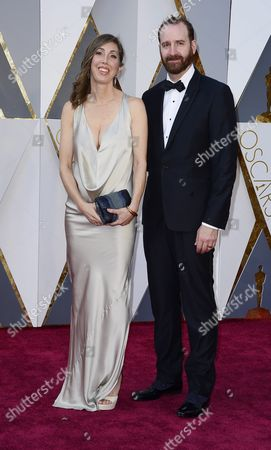 Stock Image of Drew Kunin (r) and Guest Arrive For the 88th Annual Academy Awards Ceremony at the Dolby Theatre in Hollywood California Usa 28 February 2016 the Oscars Are Presented For Outstanding Individual Or Collective Efforts in 24 Categories in Filmmaking United States Hollywood