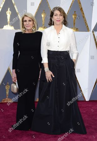 Stock Photo of Maryanne Brandon (r) and Mary Jo Markey (l) Arrive For the 88th Annual Academy Awards Ceremony at the Dolby Theatre in Hollywood California Usa 28 February 2016 the Oscars Are Presented For Outstanding Individual Or Collective Efforts in 24 Categories in Filmmaking United States Hollywood